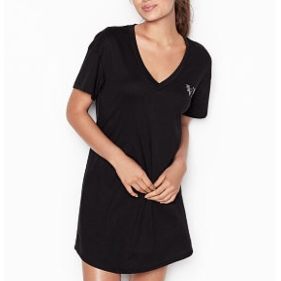 NWT Victoria/'s Secret Sweet Dreams Cotton Blend Sleep Tee Pajama Nightgown M//L